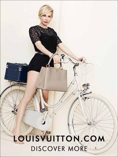 Vuitton bike lady