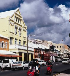 Front Street, city of Hamilton, Bermuda: actually enjoyed shopping here (I am not much of a travel shopper), looking in the fine china shops.