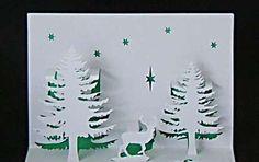 Biglietti Natale pop up fai da te - Biglietti pop up di Natale fai da te:alberi Pop Up, Letters