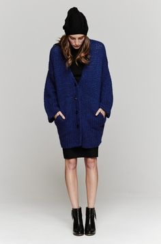 Chelsea Cardigan In Sapphire by Soyer : Minimal & Classic | Nordhaven Studio