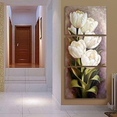 Cheap paintings wall decor, Buy Quality decoration for living room directly from China 3 panel wall art Suppliers: Tulips 3 Panels Wall Art Canvas Paintings Wall Decorations for Living Room Home Office Artwork Giclee Wall Artwork Home Decor Wall Painting Flowers, Abstract Flowers, Buddha Home Decor, Home Decor Wall Art, Canvas Art Prints, Canvas Wall Art, Canvas Paintings, Wall Art Pictures, Painting Pictures