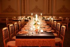 A table set up for a private event by KM Events