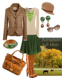 Keeneland Fall Meet: minus the ugly bag and jewelry