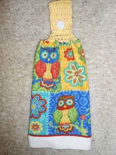 Hanging Kitchen Towel, Double and Reversible, $7.95  by CrochetandOrnaments at Etsy.com