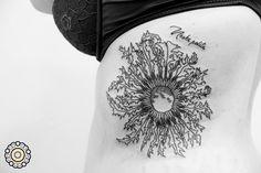"""Carlina acaulis flower """"Eguzkilore loreak"""" #carlinaacaulis #Eguzkilore loreak #flortattoo #flowertattoo #flordecardo #tattoobarcelona #barcelonatattoo"""