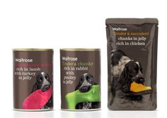 Waitrose Pet food packaging. Designed by Turner Duckworth.
