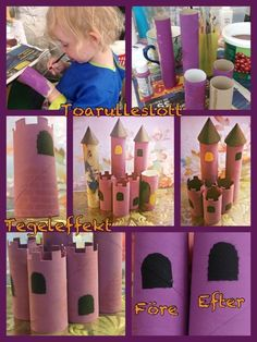 Toiletpaper roll castle