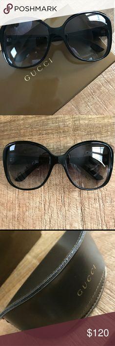 Aurh Black Gucci almost new sunglasses with case Authenic Almost new black Gucci with case Gucci Accessories Sunglasses