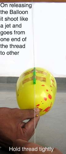 Toys from Trash - How to Make a Balloon Rocket (Similar to a Zipline)