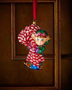 Jay Strongwater Elf Christmas Ornament