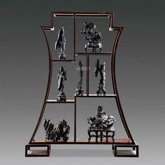 Display gogshi Bonsai, Welded Furniture, Industrial Furniture, Asian Furniture, Garden Furniture, Chinoiserie, Windows And Doors, Hardwood, Oriental