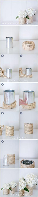 no solo con cuerda se puede hacer, probar con trapillo, con rafia, etc.