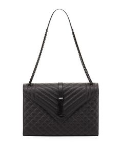 05f62f1e8af4 Large Tri-Quilted V-Flap Shoulder Bag by Saint Laurent at Neiman Marcus  Luxury