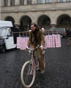 Wes Anderson on the set of The Grand Budapest Hotel.