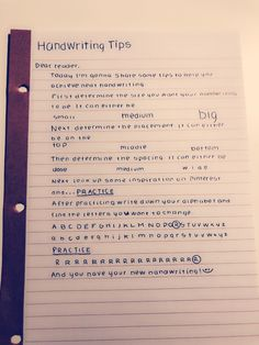 How to achieve neat handwriting!