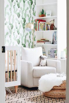 We can't resist that cactus wallpaper!