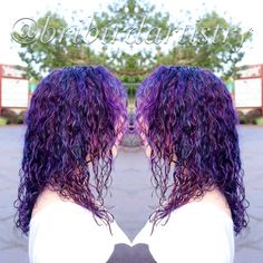 Hair & Makeup by Bri Bird @bribirdartistry #hairbybribird #magentahair #bluehair #pinkhair #purplehair #purplecurls #curlyhaircolor