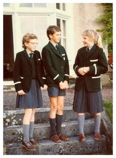 School uniforms are an example of the social role of children. Their unique school dress indicate their role in daily life. English School Uniform, Prep School Uniform, British School Uniform, School Uniforms, School Of Rock, School Boy, Vintage School, Vintage Girls, Hogwarts
