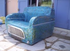 Recycled 4L club armchair !