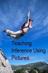 An entire pinboard dedicated to pictures that assist in teaching inference!