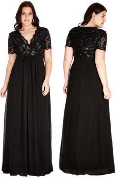 rochii lungi de seara negre cu paiete perfecte pentru soacre