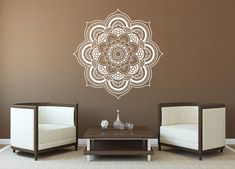 Wall Decal Mandala Vinyl Aufkleber Decals Lotus Blume Home