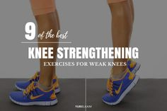 Weak quads, glutes, and calves are the culprits behind weak knees. And while it may not happen overnight, if your knees aren't correctly supported during training, rest assured that the excess strain (Fitness Workouts Calves) Knee Strengthening Exercises, Quad Exercises, Exercises For Calves, Face Exercises, Drawing Exercises, Weight Exercises, Stretching Exercises, Weak Knees, How To Strengthen Knees