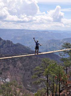 hanging bridge copper canyon.
