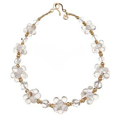 crystal quartz and gold necklace at 1stdibs