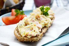 Ein Schinken-Ei-Aufstrich ist klassisch, bodenständig und lecker. Das #Rezept für einen tollen Snack zwischendurch.