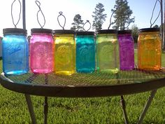 very pretty. great lantern jars for outdoor parties