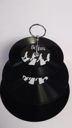 Beatles Abbey Road Image 3 Tier Vinyl Record Cake by vinylwallyork, £12.99