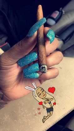 ion like the nails , the blunt pretty thou 😍 Cute Nails, Pretty Nails, Freeze Cream, Smoke Out, 420 Girls, Mary J, Stoner Girl, Ganja, Up Girl