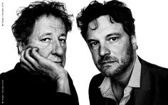 Geoffrey Rush and Colin Firth.