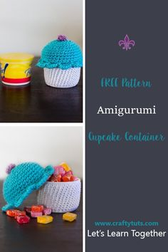 amigurumi cupcake free pattern. Free crochet pattern with step by step photo instructions to put it all together. Cure cupcake amigurumi