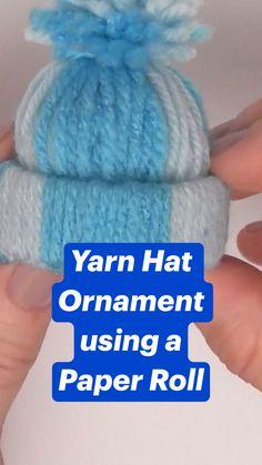 Diy Crafts Hacks, Diy Arts And Crafts, Crafts For Kids, Cool Paper Crafts, Yarn Crafts, Homemade Christmas Gifts, Christmas Crafts, Christmas Projects, Holiday Crafts