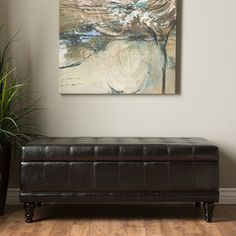 Shop for Furniture of America Espresso Flip-top Bicast Leather Storage Bench. Get free shipping at Overstock.com - Your Online Furniture…
