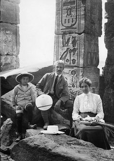 James Henry Breasted and Family in Egypt.