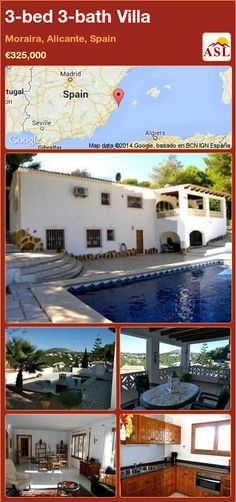 3-bed 3-bath Villa in Moraira, Alicante, Spain ►€325,000 #PropertyForSaleInSpain