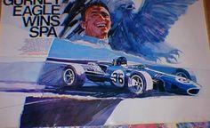 George Bartell Art celebrating Spa GP win