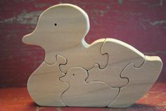 Handmade Wooden Duck Family Childrens Puzzle via Etsy - Great wooden puzzles and signs on Etsy!
