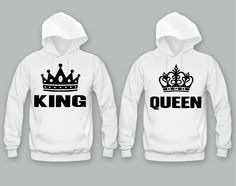 King and Queen Unisex Couple Matching Hoodies                                                                                                                                                                                 More