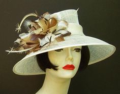 Glorious feather work!  Derby hat from HAT-A-TUDE