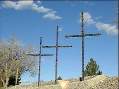 "The Crosses in Las Cruces, NM. Las Cruces means ""the crosses"", in Spanish."