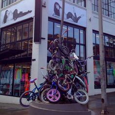 Zoobomb Pyle bike rack - Downtown Portland, OR
