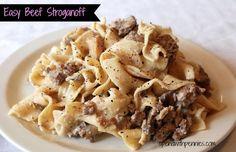 Easy Mushroom Beef Stroganoff