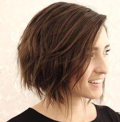 chin length choppy bob haircut