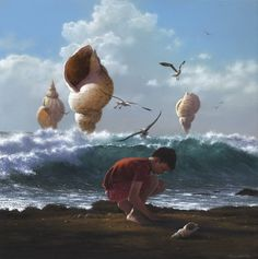 'A Little Perspective' by Jimmy Lawlor Paint Photography, Fine Art Photography, Jimmy Lawlor, Cute Cartoon Girl, Realism Art, Fairy Art, Magazine Art, Limited Edition Prints, Medium Art