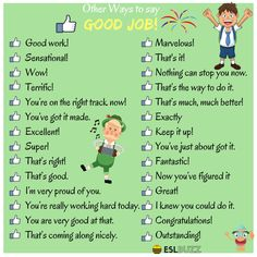 Learn 100 ways to say GOOD JOB in English: on the right track now! English Verbs, English Sentences, English Phrases, Learn English Words, English Study, English Grammar, Grammar And Vocabulary, English Vocabulary Words, English Writing Skills