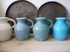 Brynxz element grande in de kleuren ice blue, misty grey, crackle white en turquoise. www.gnuswonen.nl
